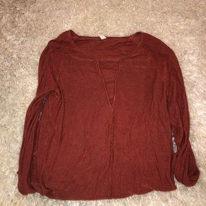 Free People V Neck Top